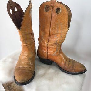 Nocona leather vintage cowboy style boots size 11D